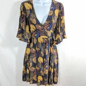 Betsy Johnson Silk Floral Mini Dress